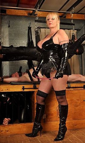 Mistress Nadine with slaves