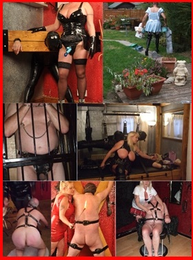 Mistress Nadine with clients